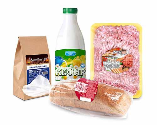 этикетки для продуктов и заморозки