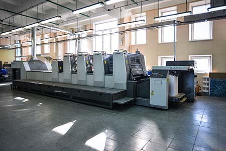 печатные станки в цех 9 в типографии Uton