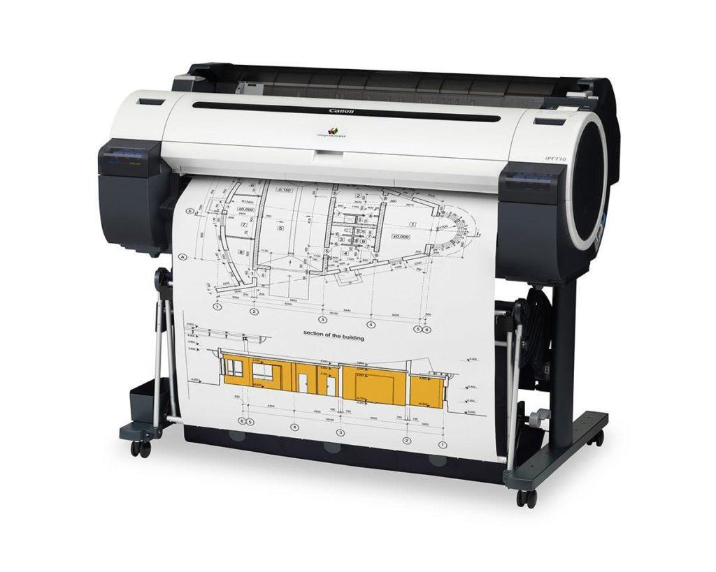 печать чертежа на принтере