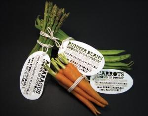 Достаточно поместить бирку в землю, и из нее вырастут новые овощи