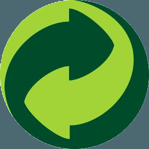 Зеленая точка — европейский знак, означающий гарантированную переработку упаковки, правда, только на территории Европы.
